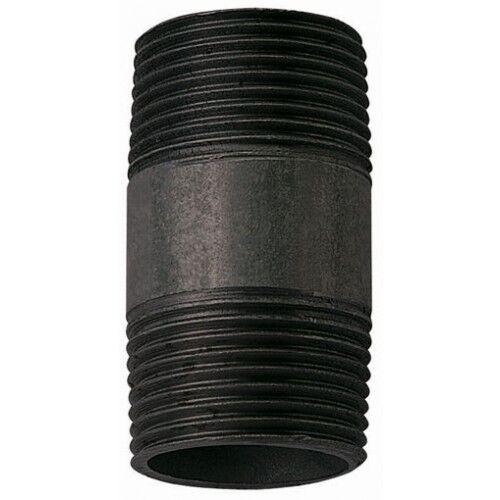 3/4 Barrel Nipple Black Malleable Iron Pipe Fitting BSP