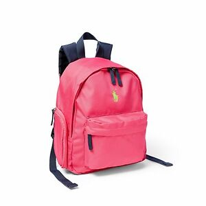 f30d3b6044bf Image is loading girls-pink-navy-school-backpack-small-size-Ralph-