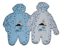 Baby Boy All in One Snowsuit Pramsuit Coat Newborn to 3-6 Months