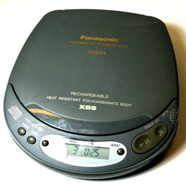 Image result for panasonic gray portable cd player 1995