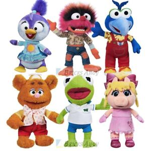 Disney Store KERMIT PIGGY FOZZIE GONZO ANIMAL SUMMER PLUSH Muppet Babies Set