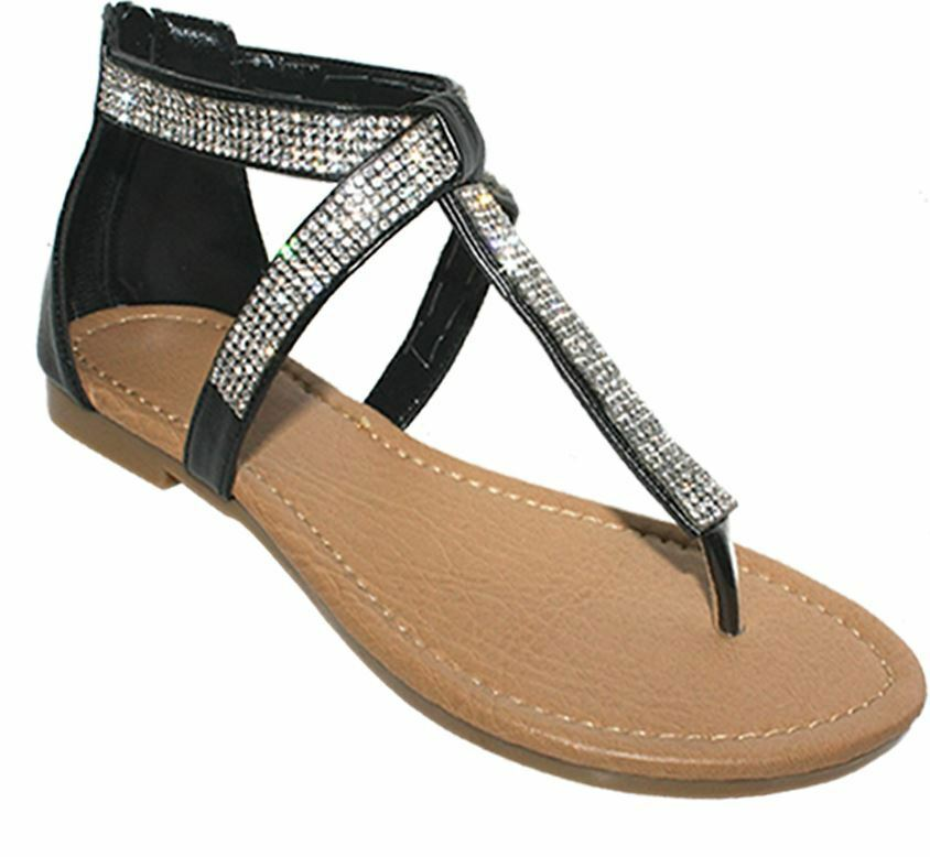 Ladies Womens sandals flat low evening toe post zip up evening low party sandals uk3-8 95e766