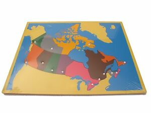 NEW Montessori Geography Material Puzzle Map of Canada eBay
