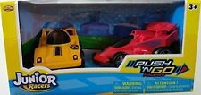 NEW JUNIOR RACERS PUSH N GO 2PK Jet Racer & Race Car FREE SHIPPING