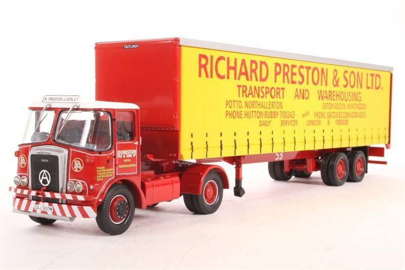 Atkinson Borderer + Tautliner Trailer 'Richard Preston & Son Ltd' - 1 50 - Corgi