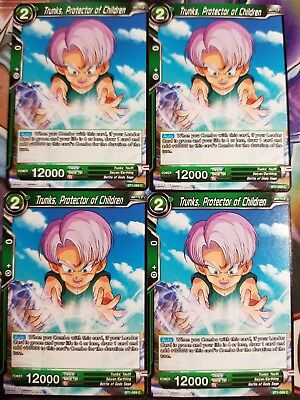 Full Power Energy 4x BT1-080 C Dragon Ball Super PLAYSET