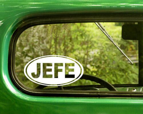 2 JEFE BOSS DECALs Oval Sticker For Car Window Truck Laptop Rv Bumper Jeep 4x4