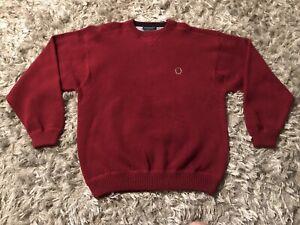 Details about Vintage Tommy Hilfiger Knit Sweater Red Lion Crest Men's Size Large 90s