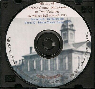 Stearns County Minnesota History, In Two Volumes + Bonus Book   eBay