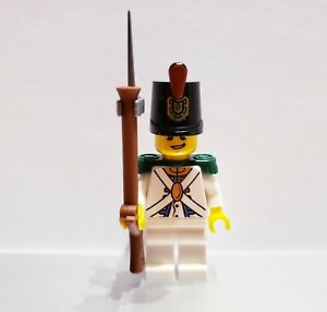 Lego-PIRATES-Imperial-Guard-REDCOAT-Soldier-MINIFIG-White-VERSION