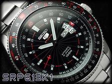 NEW MEN'S SEIKO 5 SPORTS 24 JEWEL AUTOMATIC MANUAL WIND FLIGHTMASTER SRP613K1