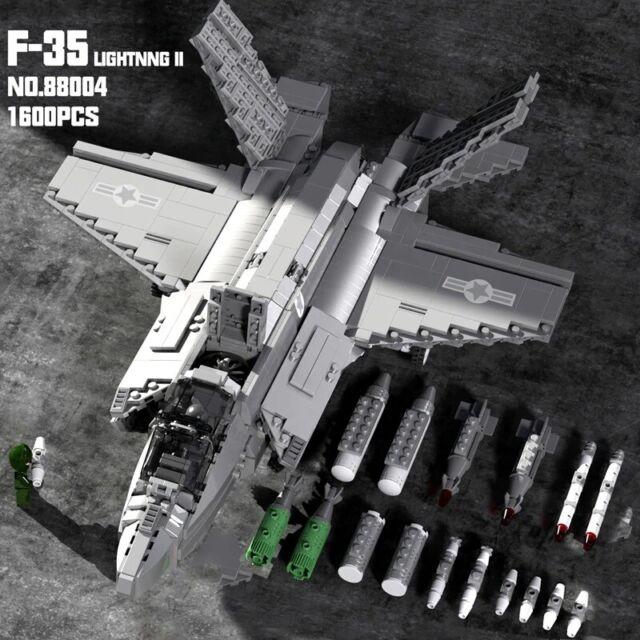 SLUBAN ARMY LIGHTNING 2 FIGHTER JET CONSTRUCTION BUILDING BRICKS AIRCRAFT 0510