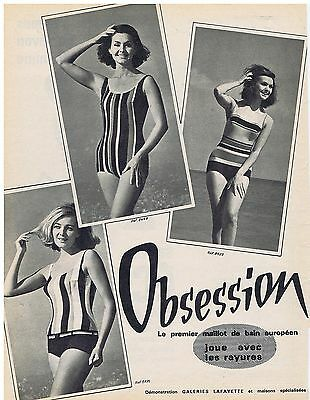 Open-Minded Publicite Advertising 044 1962 Obsession Premier Maillot De Bain Européen Other Breweriana