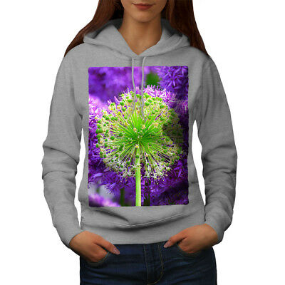 Gewissenhaft Wellcoda Psychedelic Flower Womens Hoodie, Nature Casual Hooded Sweatshirt