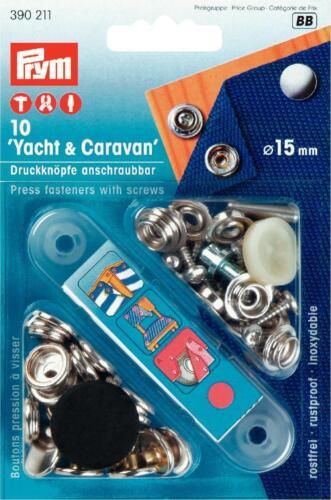 camping cúbranlos Boot cubierta jardín Prym Yacht /& Caravan 15 mm pulsadores