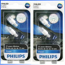 4 x Philips Genuine 194LED 127916000KB2 T10/168/12961 LED Light Bulb