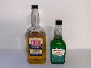 Vintage-Glass-Barber-Shop-Bottles-1950-s-Lot-of-2