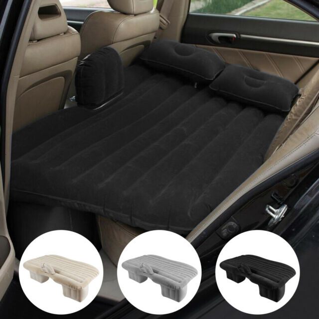 Car Inflatable Air Bed Mattress Back Rear Seat /& 2 Pillows For Travel Camping BK