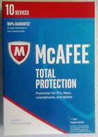 Mcafee Total Protection 2017 10 Devices Sealed Full Retail Version Free Ship