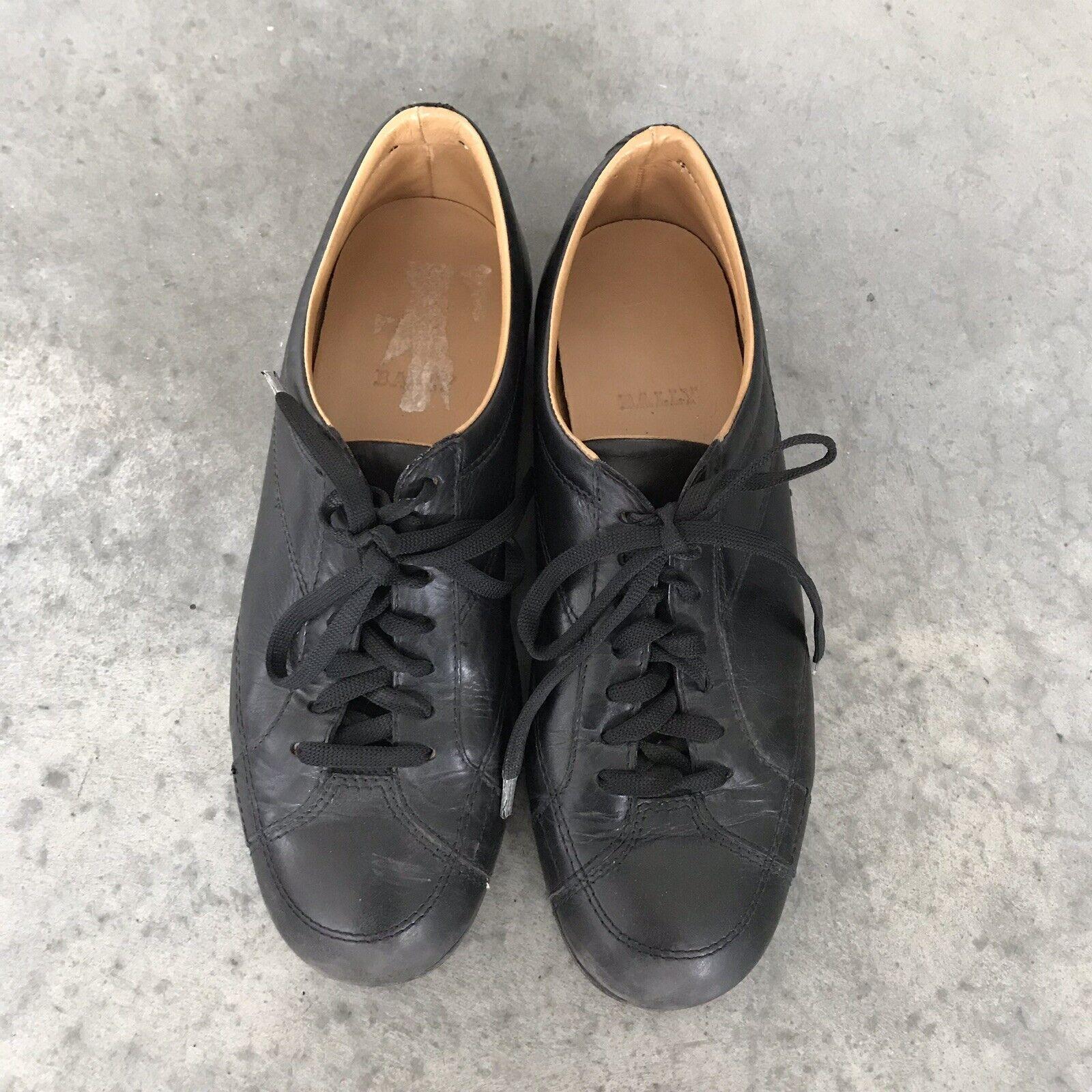 Bally Mujer Cuero Negro Moda Zapatillas Talla 39 9