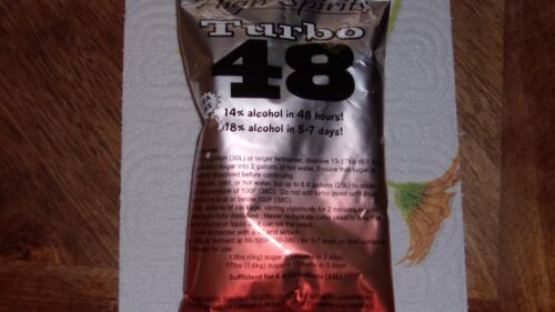 TRUBO YEAST48 Turbo Yeast-18/% moonshine whisky MADE IN USA  2 EA  fast shipping