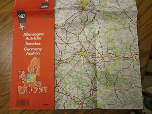 Map France 987.Michelin 987 Map Of Germany Northern France Austria Northern