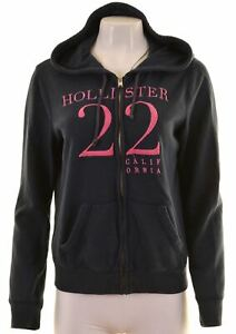 Hollister-Femme-Sweat-a-Capuche-Pull-Taille-14-Large-Coton-Bleu-Marine-MH11