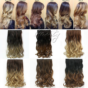 Dip dye clip in long curly straight synthetic 516 clips ombre image is loading dip dye clip in long curly straight synthetic pmusecretfo Images