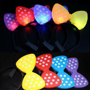 LED-Light-Up-Flashing-Play-Park-Club-Bar-Party-Headband-Hat-Minnie-Mickey-Mouse
