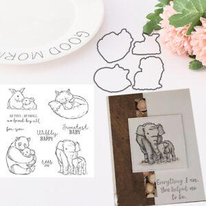 Details about Animal Happy Metal Cutting Dies Stamp DIY Scrapbooking  Stencil Paper Card Decor