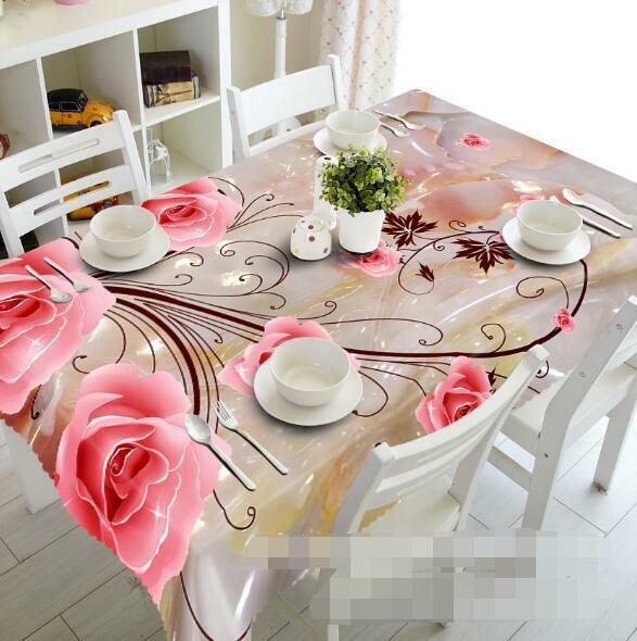 3D Flower 820Tablecloth Table Cover Cloth Birthday Party Event AJ WALLPAPER AU