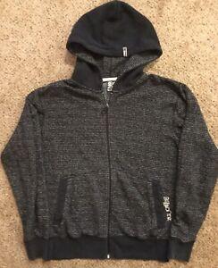 Billabong-Hoodie-Hoody-Full-Zip-Dark-Gray-Black-Mens-Sz-S-Sweatshirt-Jacket