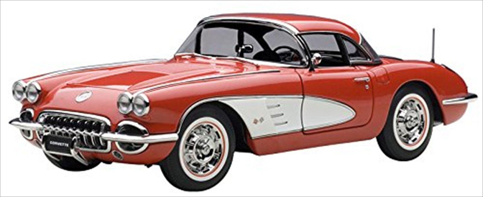 AUTOart 1 18 CHEVROLET Corvette 1958 Signet Rouge Diecast Model 71148