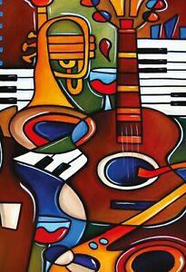 Musique-Instruments-Moderne-Art-Panneau-Metallique-Plaque-en-Etain-20-X-30-CM