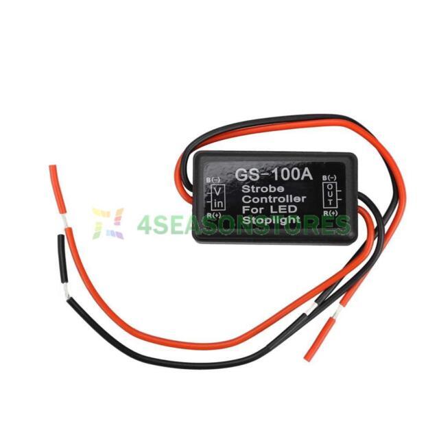 Strobe Flash Controller Flasher Module for Car LED Brake Stop Tail Light 12V-24V