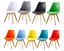 1/2/4/6X Eiffel Dining Chair Set Jamie Tulip Chairs Solid Wood Legs PU Seat NEW Black,White,Grey,Pink,Red,Yellow,Orange,Blue,Green,Cream