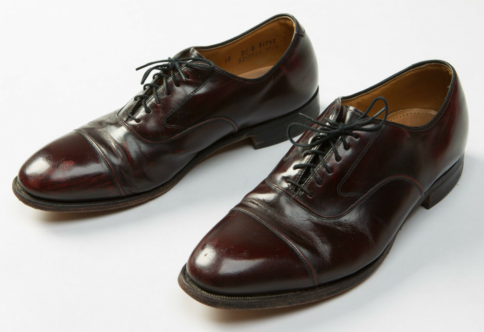 Johnston And & Murphy Optima Men's Dress Formal Brown Cap Toe Oxfords Size 10