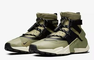hot sale online a3fe4 a8921 Details about Nike Air Huarache Gripp AO1730-200 Size 10 Olive Green Beige  Black Men Sneakers