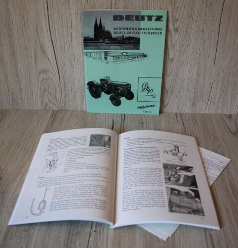 H1135-2 Deutz Bedienungsanleitung Traktor D40S F3L712 ab Nr . 7808//2816