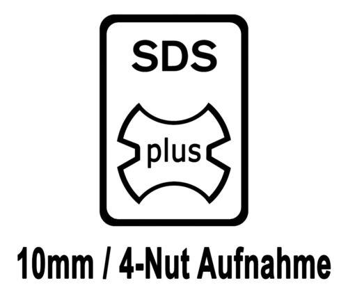 5 Stück SDS-plus Betonbohrer 10 x 210 mm Quadro Bohrer Hammerbohrer Steinbohrer