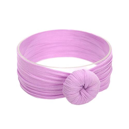 Baby Stirnband Mädchen elastische geknoteten Nylon Turban Haar Band weiches