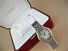 Cartier Stainless Steel Cougar Quartz Men's Watch With Box  Cartier Cougar Watch