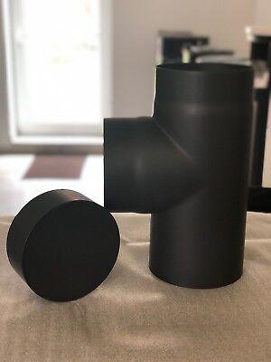 Rauchrohr T-Stück mit Deckel Durchmesser 160mm