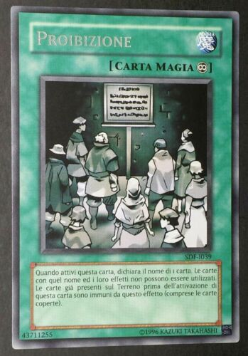 Prohibition RARE in Italian new text sdf-i039 yugioh
