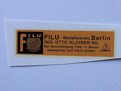 Filu Wasserabziehbild Abziehbild Schriftzug 67 X 18 Mm 09750f Orange/schwarz Beautiful In Colour Auto & Motorrad: Teile