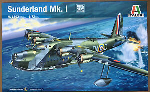 Italeri-1302-Sunderland-mk-1-Avion-kit-1-72-Kit-de-modelismo-NUEVO-EN-CAJA