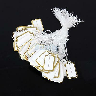 500x Jewelry Tie Necklace Ring Cloth Price Label Tags Display Sticker String