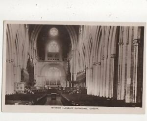 Interior-Llandaff-Cathedral-Cardiff-Vintage-RP-Postcard-724a