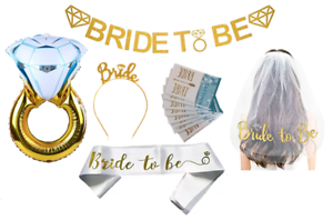 BRIDE-to-be-BACHELORETTE-Party-Kit-BRIDAL-DECORATIONS-Banner-Wedding-Balloon