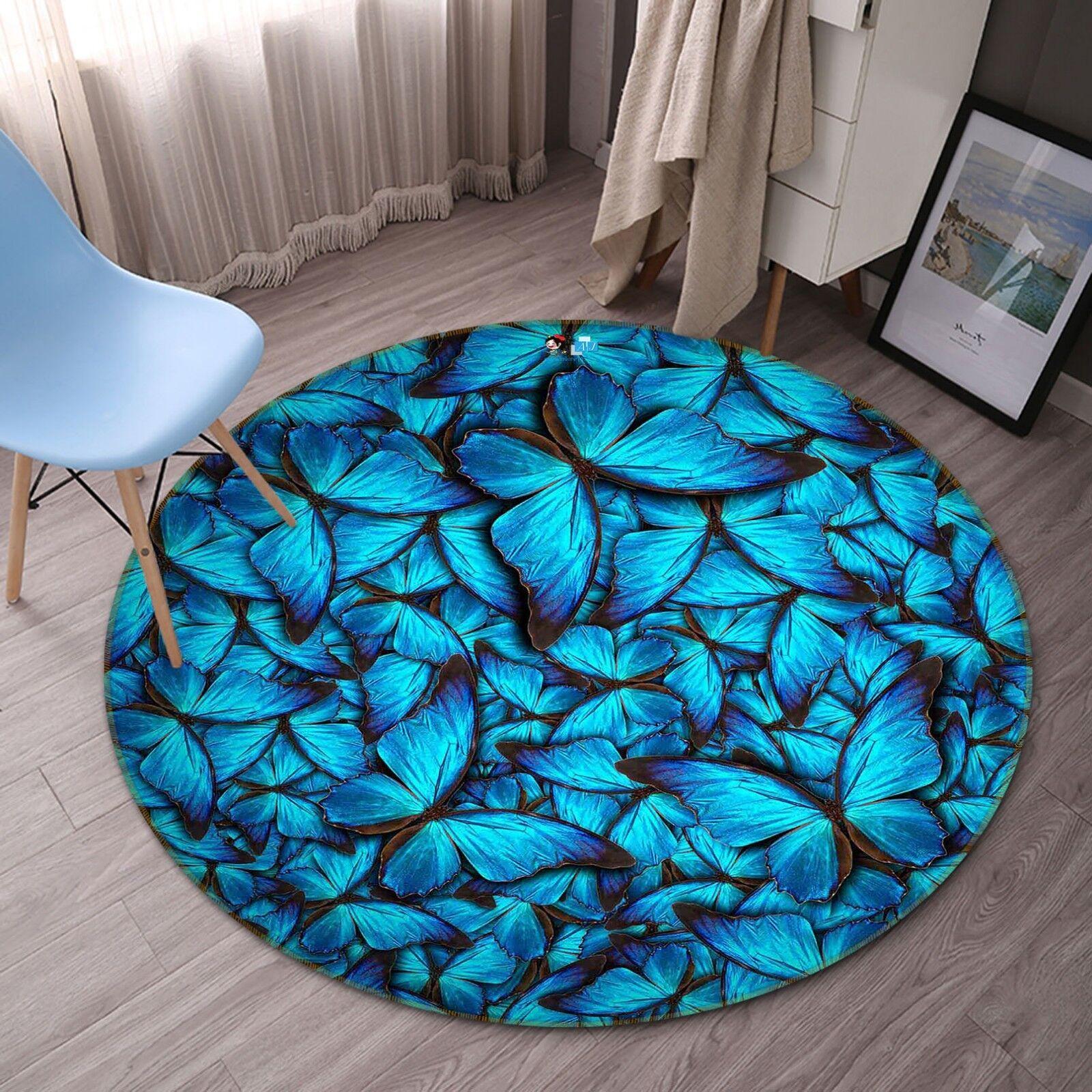 3d mariposa 5 antideslizante alfombra de maletero rondas elegante alfombra de